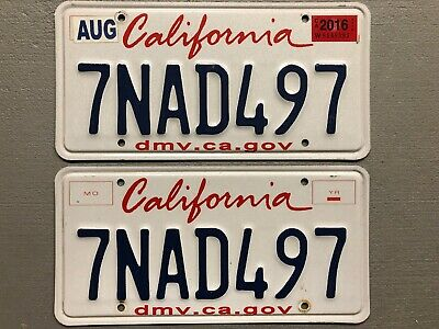 California License Plate Pair-Set Lipstick Random Letters/Numbers Free Shipping