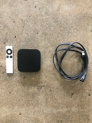 Apple TV (3rd Generation) A1427 HD Media Streamer With Remote & Power Cord