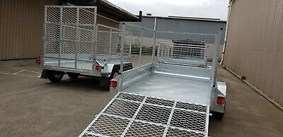 8x5 galvanised tandem box trailer with cage & ramp great qaulity