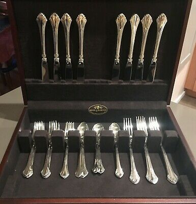 French Regency by Wallace Sterling Silver Flatware #W137 (set for 8 - 32 pieces)