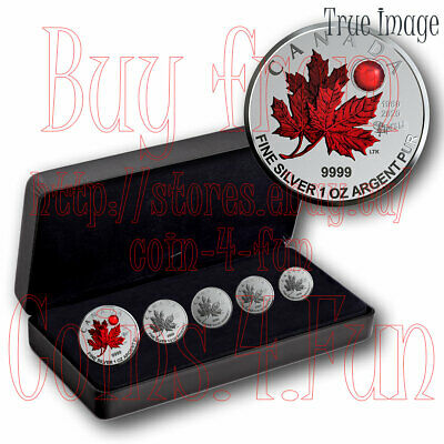 1980-2020 - O Canada - Maple Leaf 5-Coin Pure Silver Proof Fractional Set
