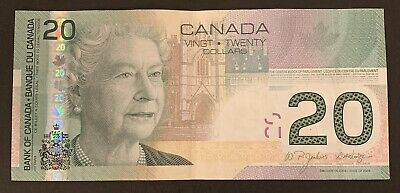 2004 - Canadian Twenty 20$ Dollar Banknote, Bank Of Canada