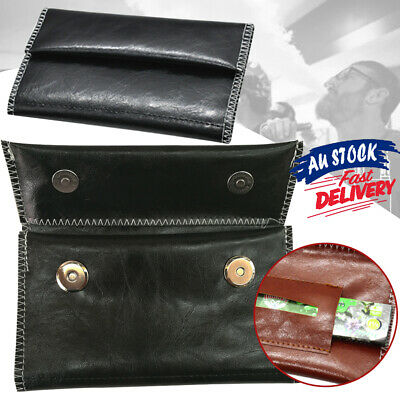 Cigarette Rolling Paper Tobacco Pouch Holder Leather Bag Case Filter Wallet Gift