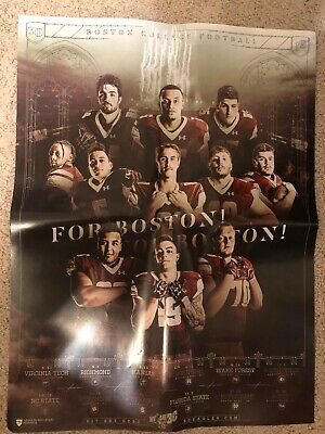 2019 Boston College Eagles Football Schedule BC NCAA Official Poster