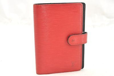 Authentic Louis Vuitton Epi Agenda PM Day Planner Cover Red LV 60169
