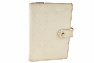 Authentic Louis Vuitton Vernis Agenda PM Day Planner Cover Cream LV 78758
