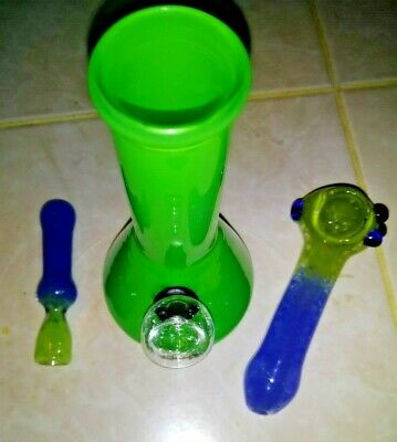 """Great Gift Set 6"""" GREEN & BLUE UNIT, 4 1/4"""" Pipe + 1 HITTA FAST FREE SHIPPING"""