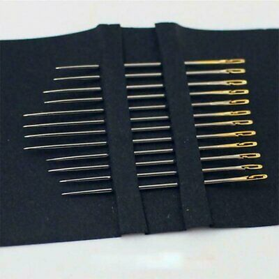 One Second-Needles Self Threading Needles Hand Sewing Repair Set of 12 9b
