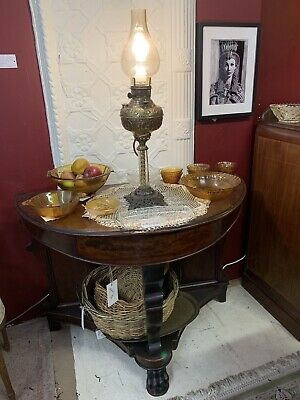 Victorian Brass Electric Table Lamp