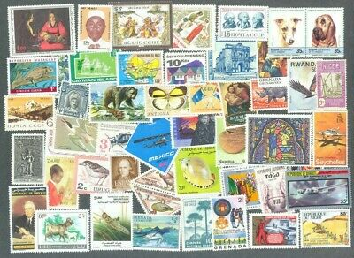 1000 Mint only all different Worldwide stamps collection-mainly large-medium
