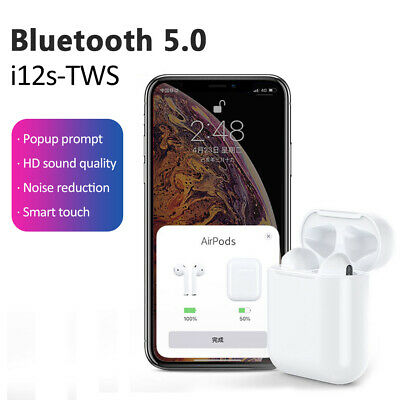 NEW i12 TWS Bluetooth AirPods Style Earbuds Smart Touch Headset Headphone USA P2