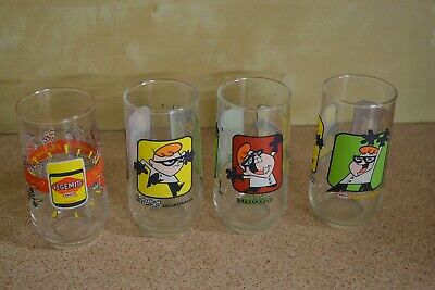 Kraft drinking glasses collectable x 4