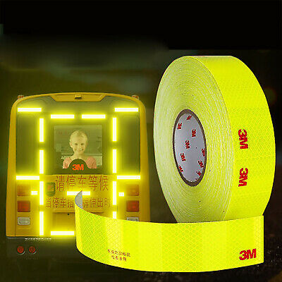 5cm Strong Reflective Tape Yellow Fluorescent Warning Sign Car Safety Sticker