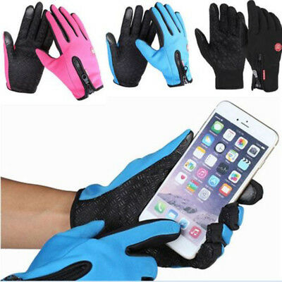 Waterproof Men Women Winter Bicycle Ski Warm Motorcycle Touch Driving Gloves BS