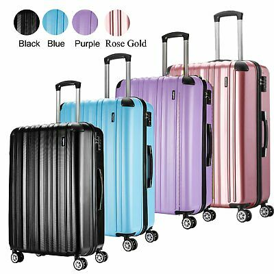 """Extra Large 28"""" 4 Spinner Wheels Lightweight Luggage Trolley Suitcase Case Bag"""