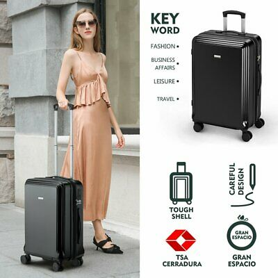 Hard shell PC+ABS Suitcase 4 Wheel Spinner Lightweight Luggage Travel Case