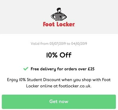 Footlocker 10% Off Valid Discount Code *Instant Delivery* - Uk Only