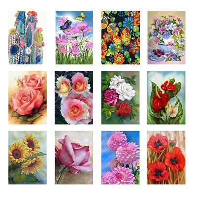 5D DIY Full Drill Diamond Painting Cartoon Flowers Cross Stitch Embroidery