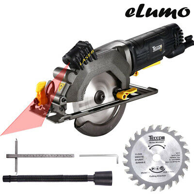 Compact Circular Saw 85Mm Mini Electric Power Tool Hand Held Light Laser Plunge