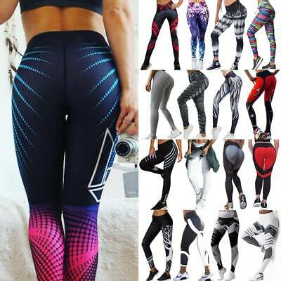 Women Sport Compression Fitness Leggings Running Gym Yoga Pants Stretch Trousers