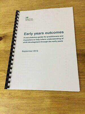 EYFS Early Years Outcomes Early Years Foundation Stage