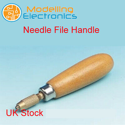 Needle File Handle - Turned hardwood handle
