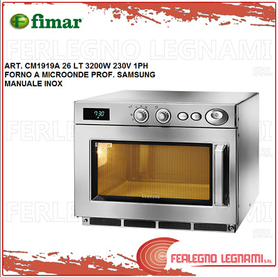 Microwave Oven Prof Samsung 26LT 3200W 1PH Manual Stainless Fimar CM1919A