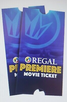 Regal cinemas premiere movie e-ticket (United Artist, Edwards, Regal)