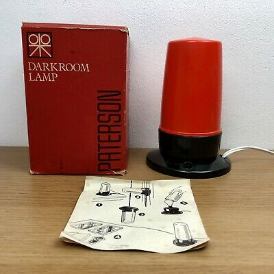 Paterson Dark Room Lamp - Orange - Boxed With Instructions - Working - Vintage