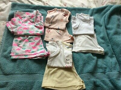 Baby Girls Pyjamas  x4  Age 3-4 Years  M&S  TU