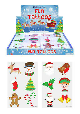 Christmas Temporary Tattoos Girls Kids Party Bag Fillers 6-144 Choose Quantity