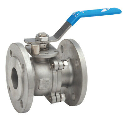 """1 1/2"""" (Dn40)  Stainless Steel Pn16 Flanged Ball Valve - Rated To 16Bar"""