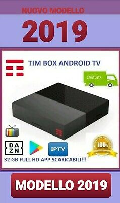 Tim box tim vision 2019 DVB-T2 4K Android TV NOWTV  32 GB  NETIFIX,DAZN