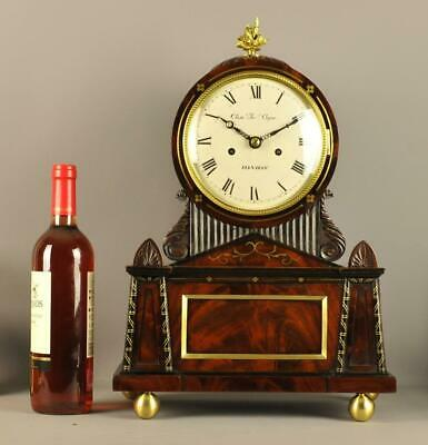 00REGENCY MAHOGANY DOUBLE FUSEE BRACKET CLOCK - Cope of London
