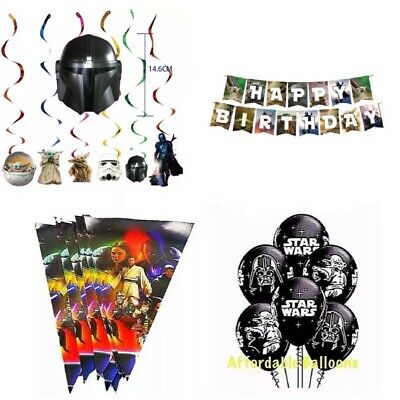 Star Wars Party latex balloons. Star Wars birthday bunting party decorations