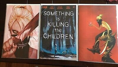 SOMETHING IS KILLING THE CHILDREN #1 COVER A+B+C Dell'Edera Lee Frison set  NM