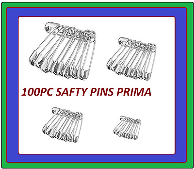 Safety Pins 100PC Needles silver Assorted Small Medium Large Sewing Craft