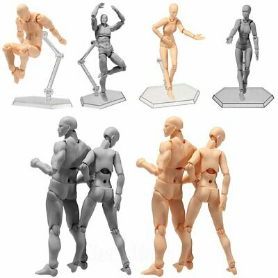 Drawing Figures For Artists Action Figure Model Human Mannequin Man / Woman US