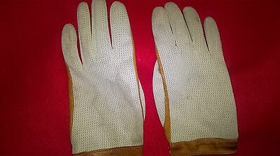 Pair Of Dents Tan Ladies Crochet Driving Gloves - Size Small