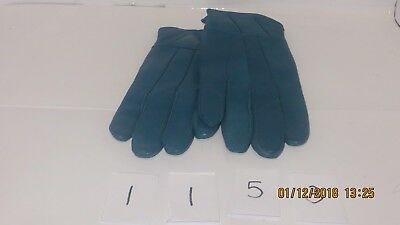 Lovely Pair Of Ladies Soft Blue Sheepskin Leather Gloves - SIze M / L