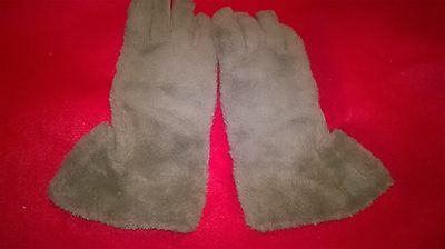 Stunning Pair Of Dents Bri-Nylon Vintage Fur Gauntlets - Size 7 1/2