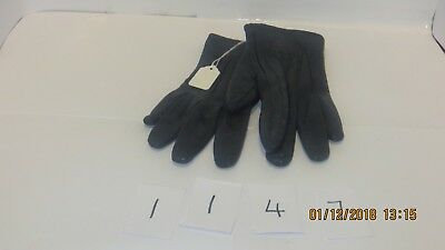 Lovely Pair Of Ladies Blue Leather Gloves With Silk Lining- SIze S (7)