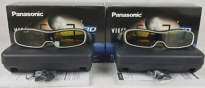2 x Panasonic Viera TY-EW3D10E 3D Full HD Glasses, Boxed With Cases.