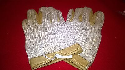 Lovely pair Of Vintage Meakers Of Piccadilly Leather Drivng Gloves - Size 8 1/2