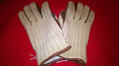 Lovely pair Of Vintage Mens Crochet Driving Gloves -