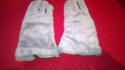 "Pair Of Grey Faux Fur ""Teddy"" Gauntlets - Size Small"