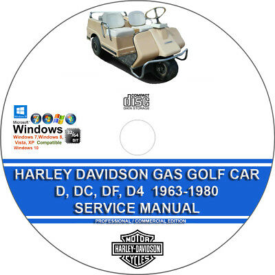 HARLEY DAVIDSON ELECTRIC Golf Cart Manual With Bonus ... on