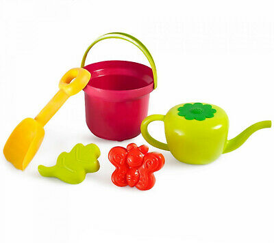 5 pc Beach Toys for Kids Bucket, Watering Can, Shovel Sand Sandbox Outdoor