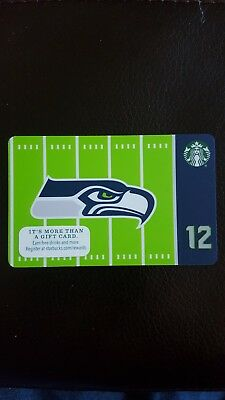 NEW 2016 Starbucks SEATTLE SEAHAWKS Gift Card Limited Edn w/ NFL Hologram