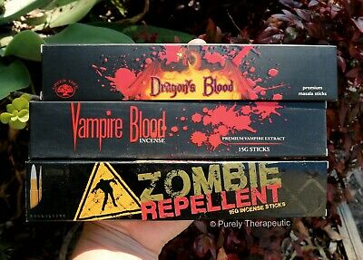 BLOOD AND GUTS PACK OF 3 INCENSE STICKS Variety Wicca Smudge Ritual Meditation